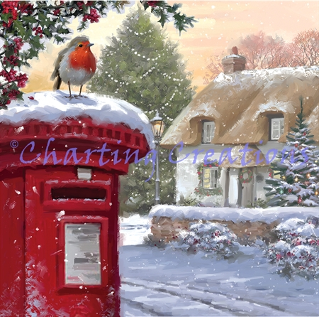 Robin On Postbox 2