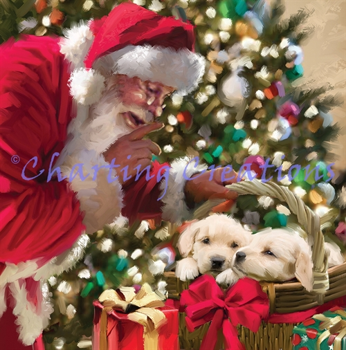 Santa And Puppies Kit