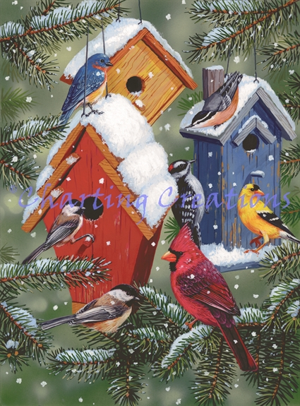 Winter Birdhouses