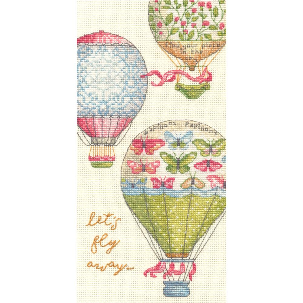 Gold Petites Let's Fly Away Counted Cross Stitch Kit