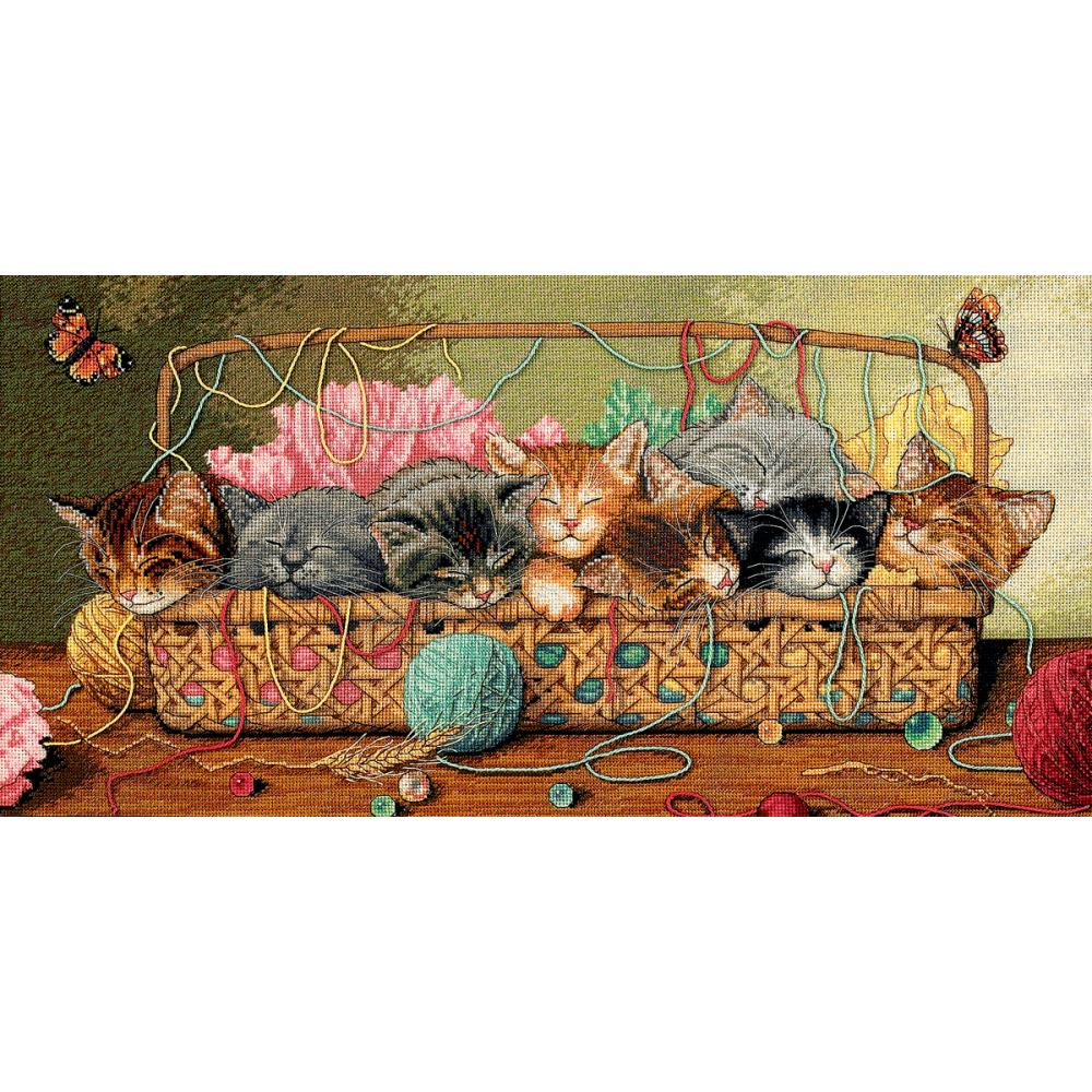 Gold Collection Kitty Litter Counted Cross Stitch Kit