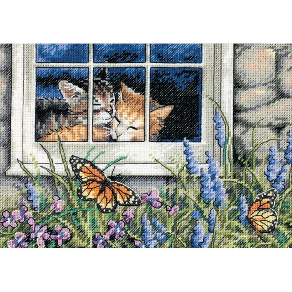 Gold Petites Feline Love Counted Cross Stitch Kit