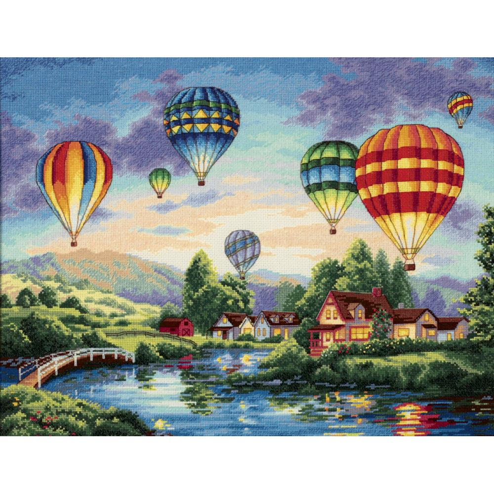Gold Collection Balloon Glow Counted Cross Stitch Kit