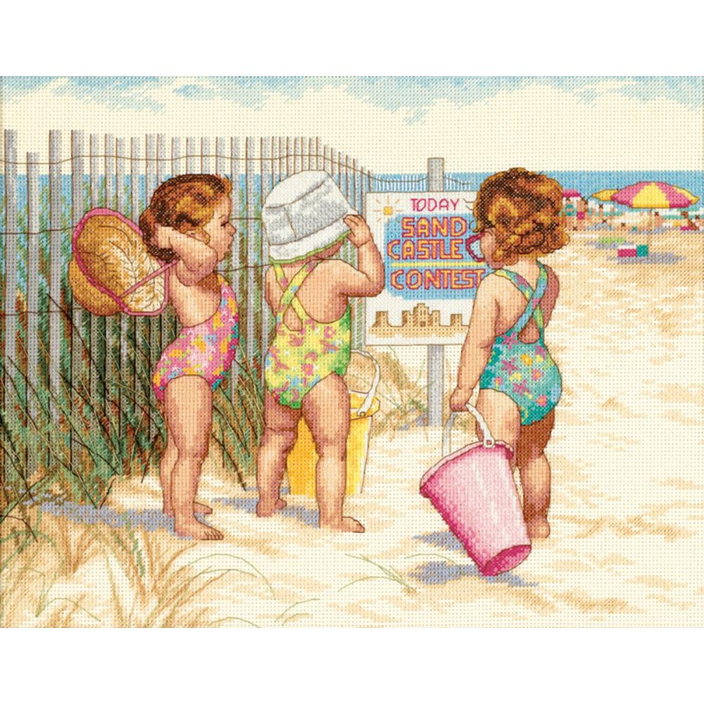 Beach Babies Counted Cross Stitch Kit