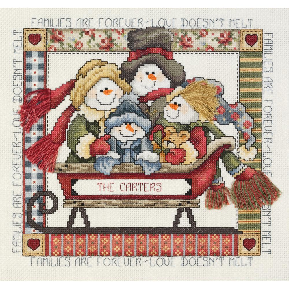 Families Are Forever Counted Cross Stitch Kit