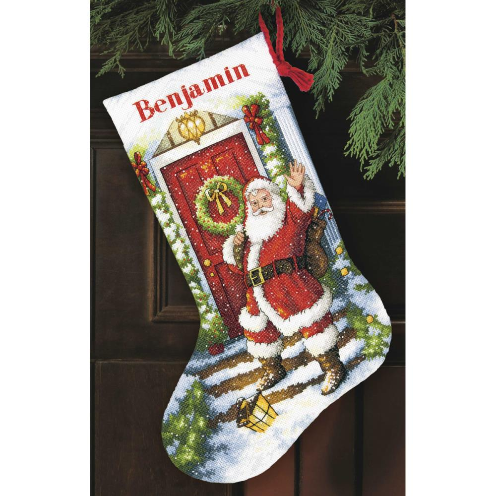 Gold Collection Welcome Santa Stocking Counted Cross Stitch