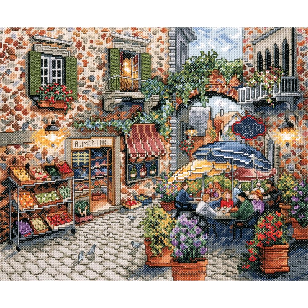 Sidewalk Cafe Counted Cross Stitch Kit