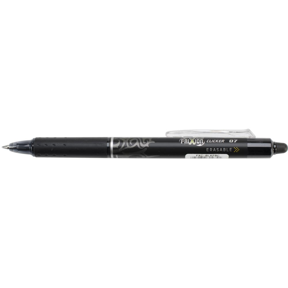 Pilot FriXion Black Fine Point Clicker Erasable Pen