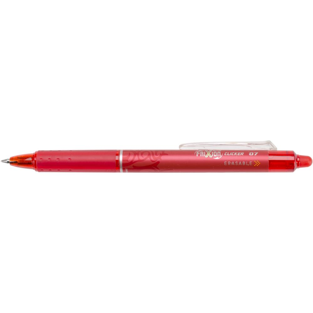 Pilot FriXion Red Fine Point Clicker Erasable Pen