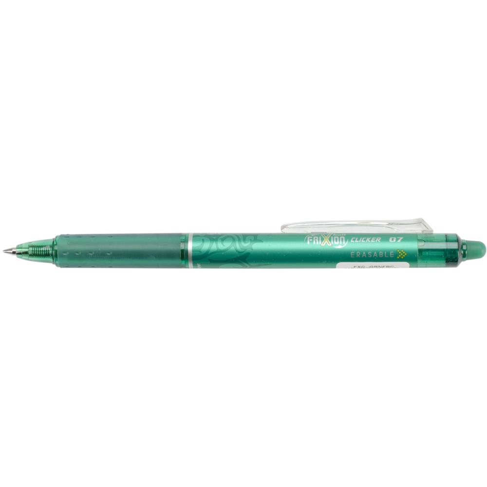 Pilot FriXion Green Fine Point Clicker Erasable Pen