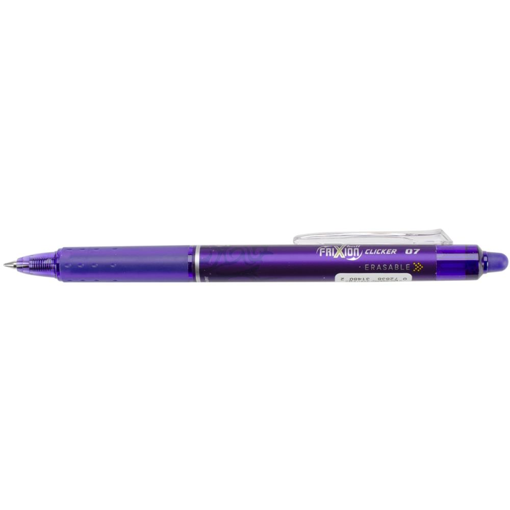 Pilot FriXion Purple Fine Point Clicker Erasable Pen