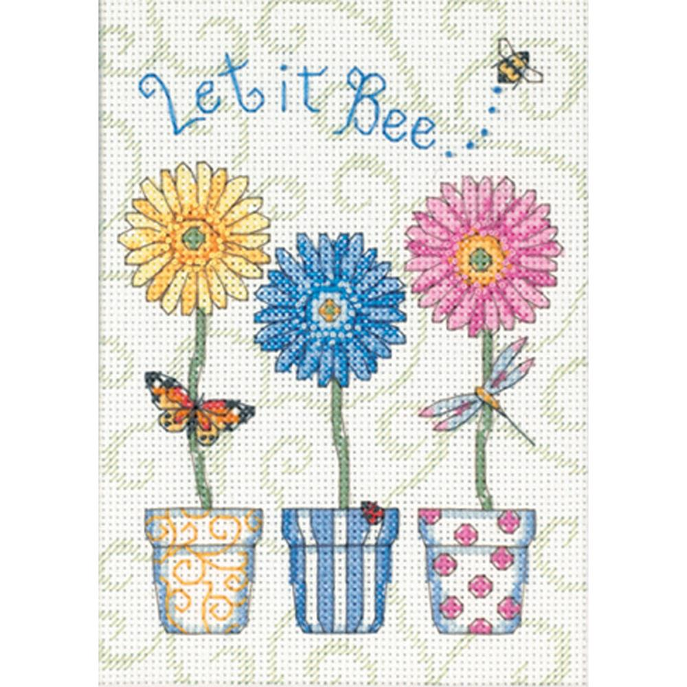 Mini Let It Bee... Counted Cross Stitch Kit