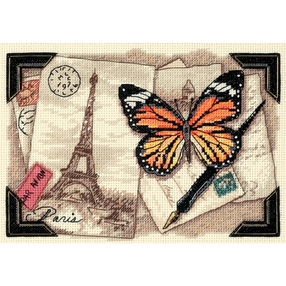 Gold Petites Travel Memories Counted Cross Stitch Kit