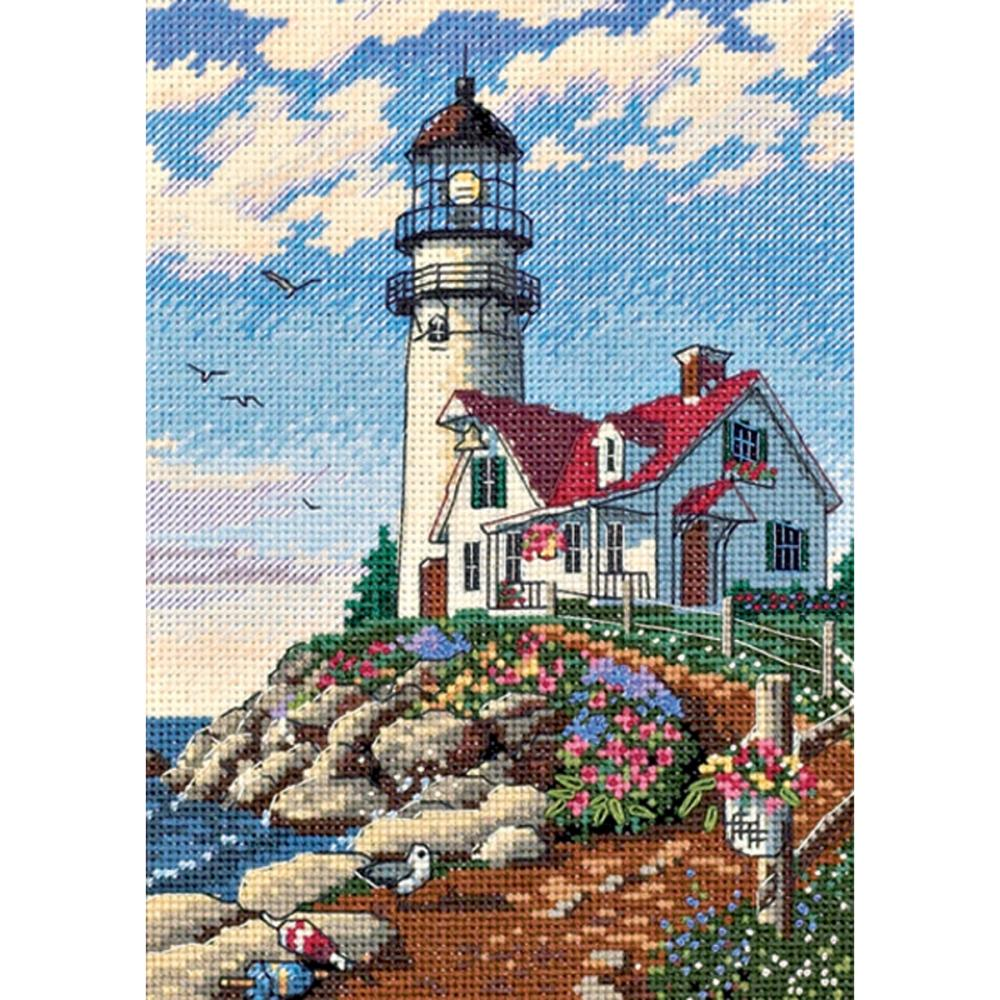 Gold Petites Beacon At Rocky Point Counted Cross Stitch Kit