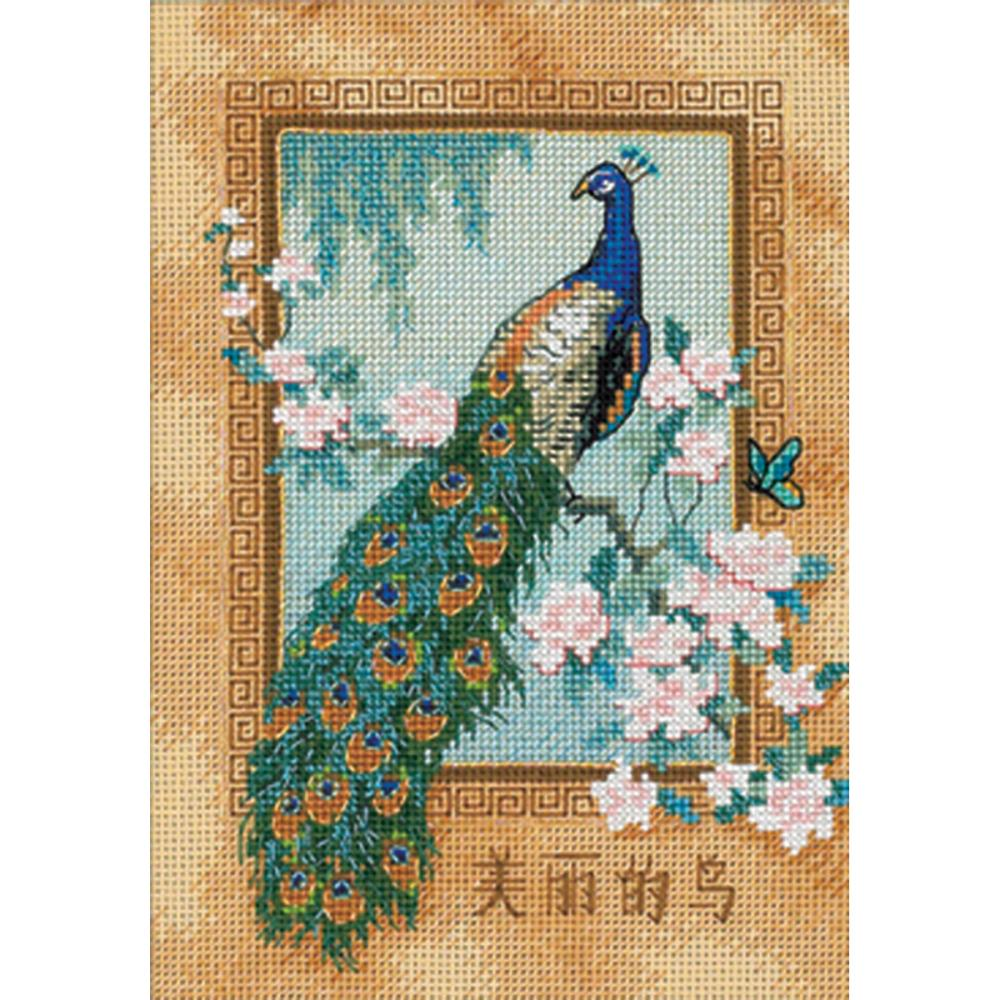 Gold Petites Beautiful Bird Counted Cross Stitch Kit