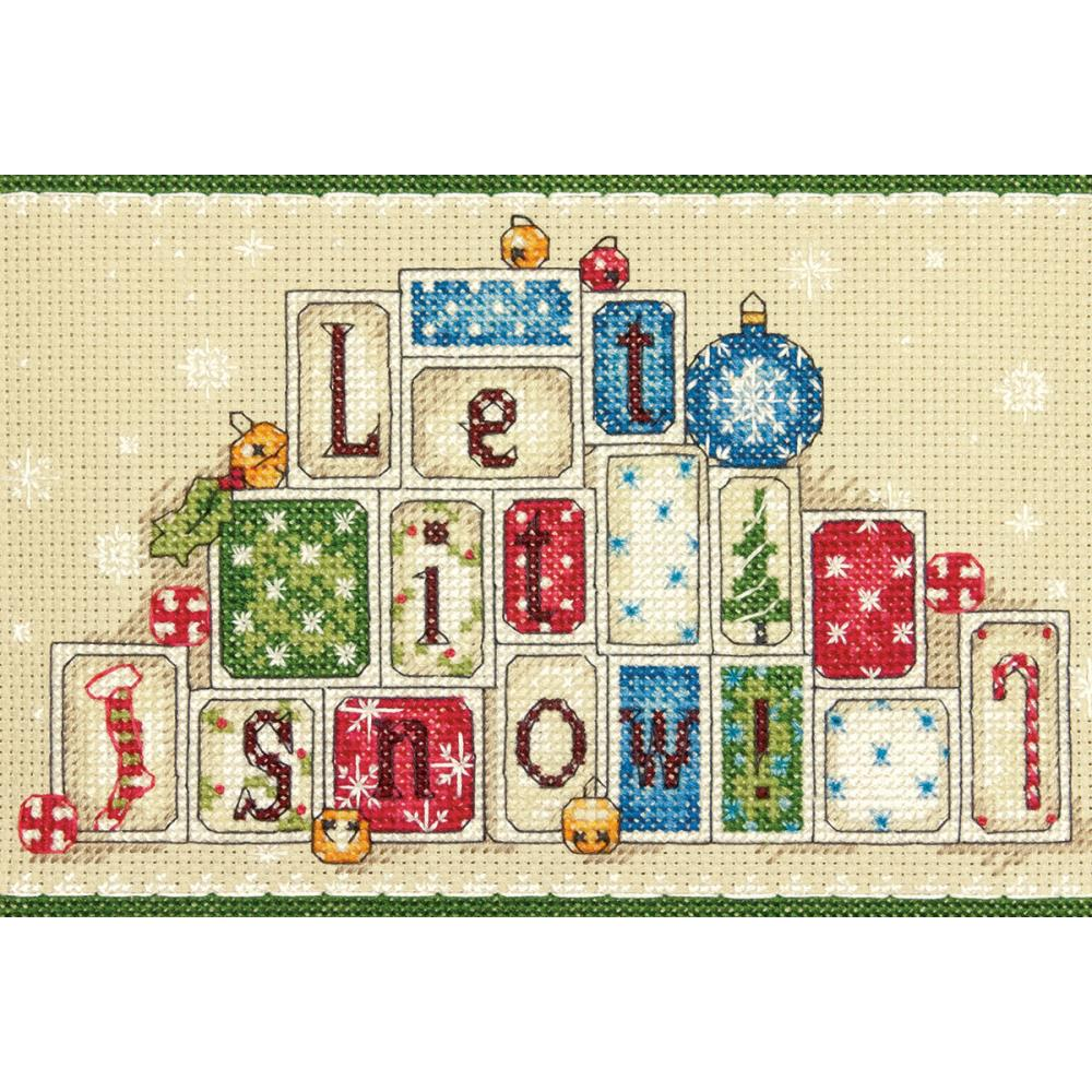 Mini Let It Snow Counted Cross Stitch Kit