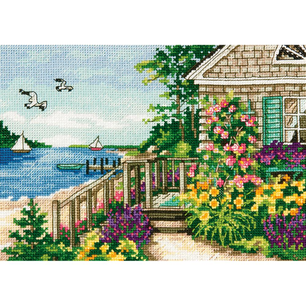 Gold Petites Bayside Cottage Counted Cross Stitch Kit