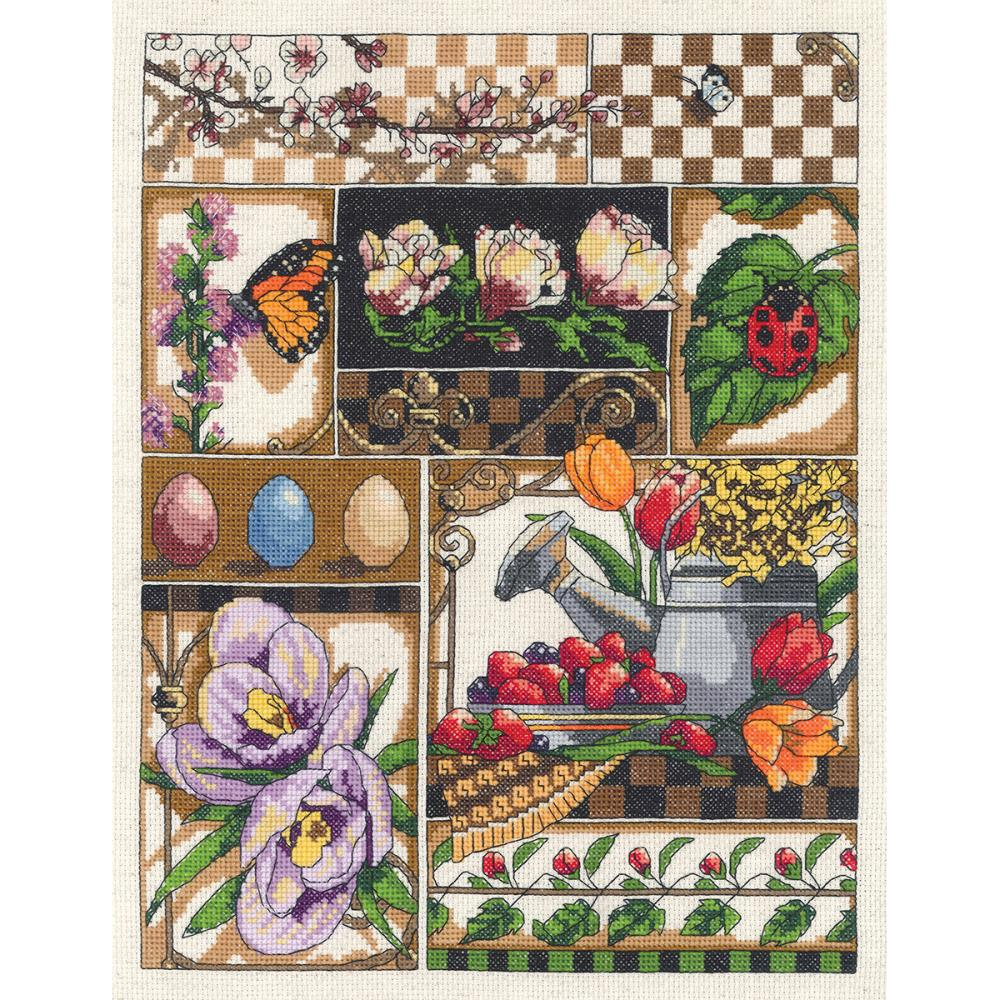 Spring Montage Counted Cross Stitch Kit