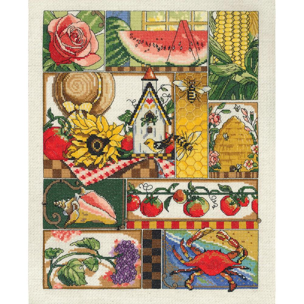 Summer Montage Counted Cross Stitch Kit
