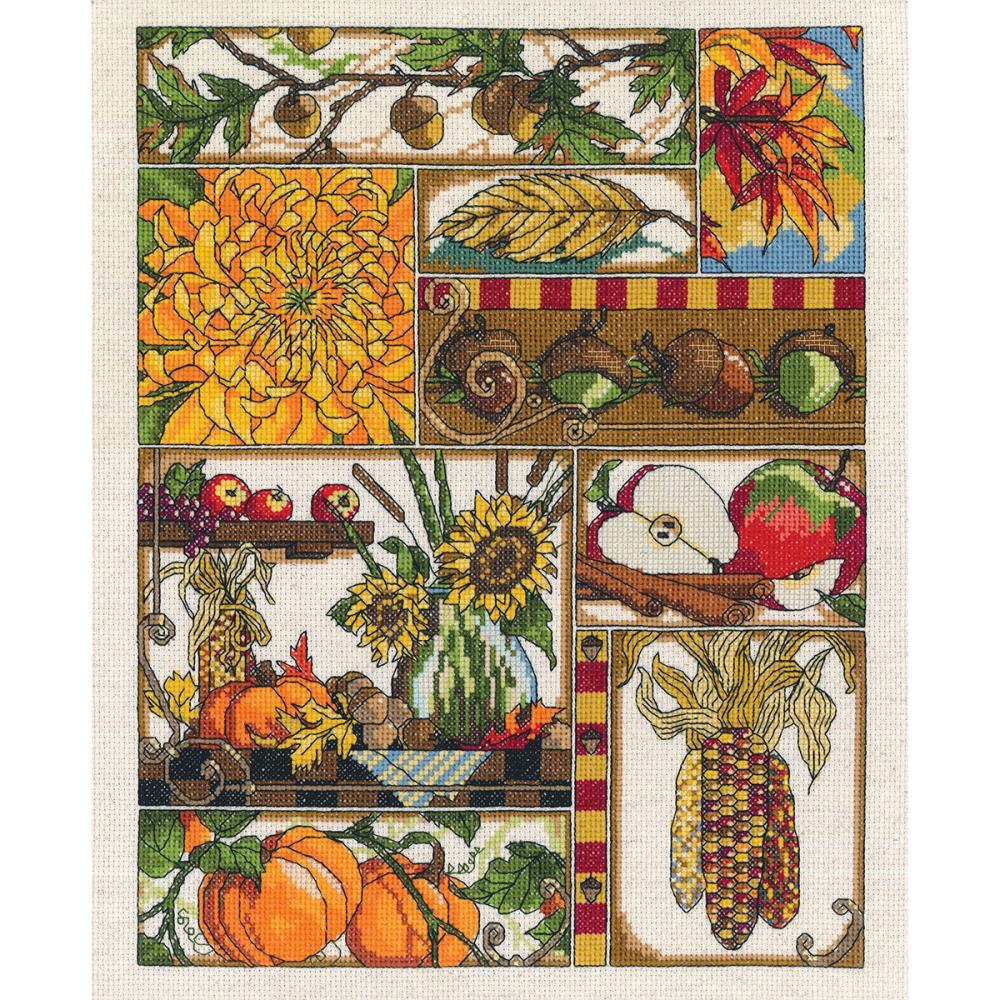 Autumn Montage Counted Cross Stitch Kit