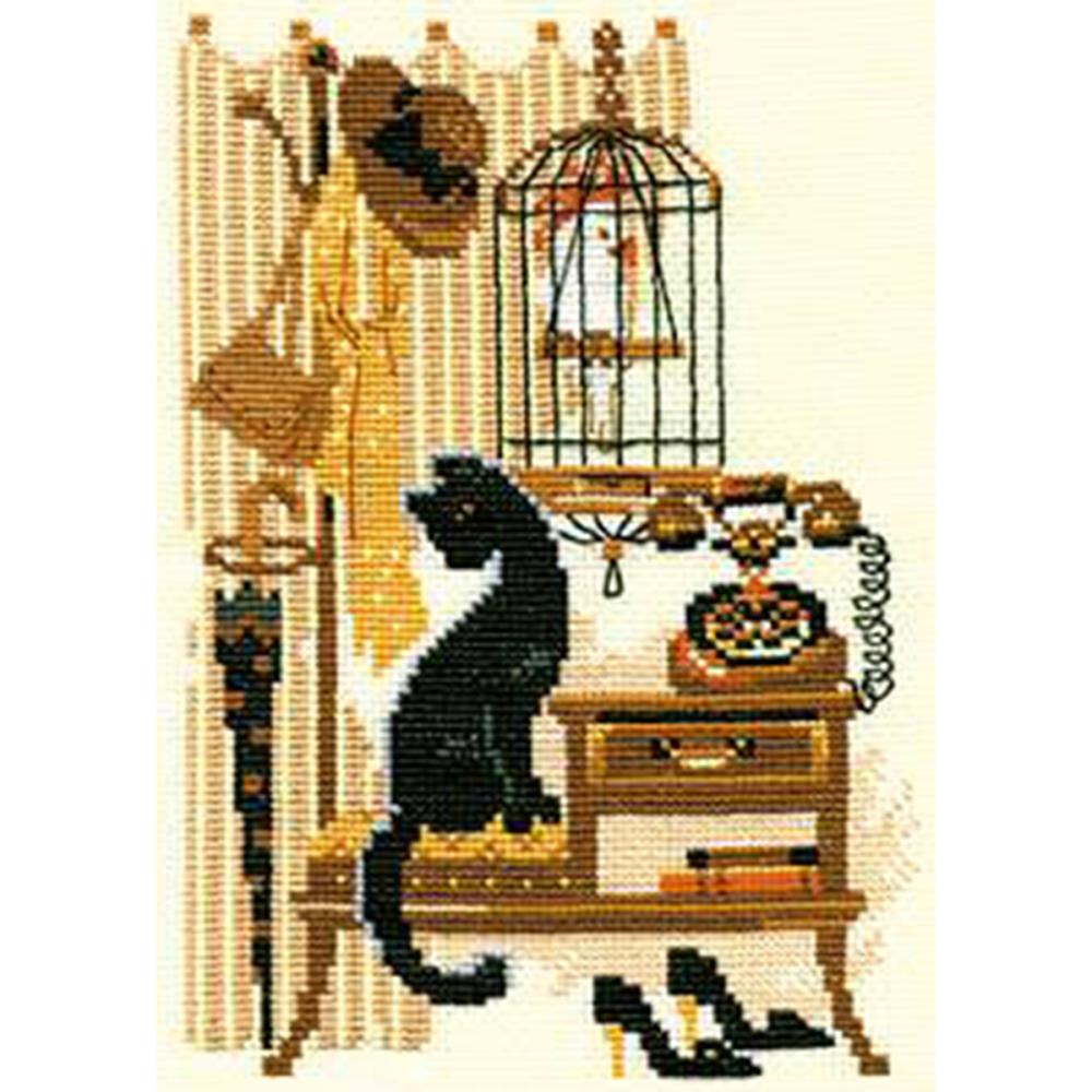Cat With Telephone (15 Count)