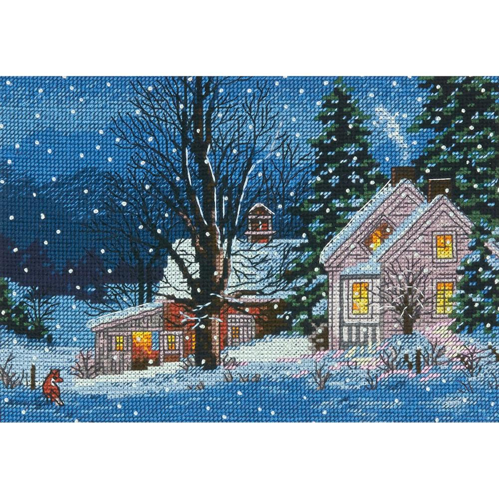 Gold Petites Quiet Night Counted Cross Stitch Kit