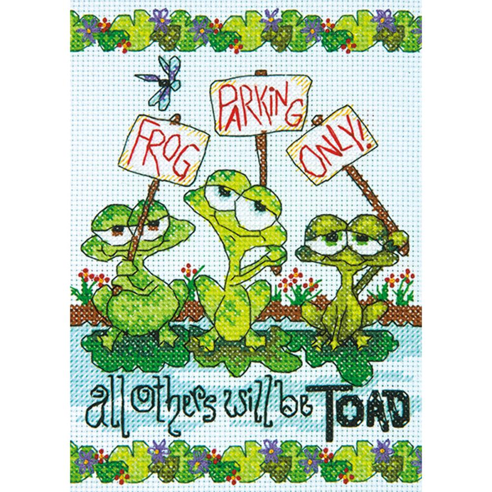 Mini Frog Parking Counted Cross Stitch Kit