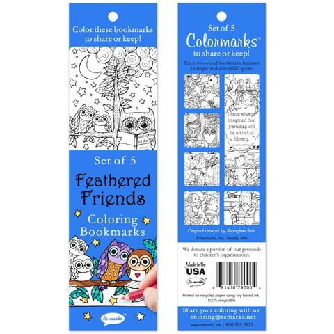 Feathered Friends Coloring Bookmarks