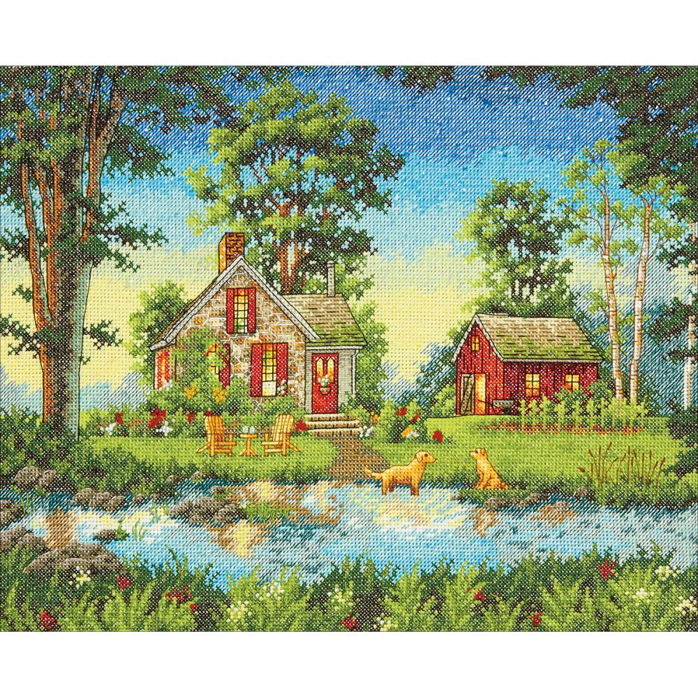 Gold Collection Summer Cottage Counted Cross Stitch Kit