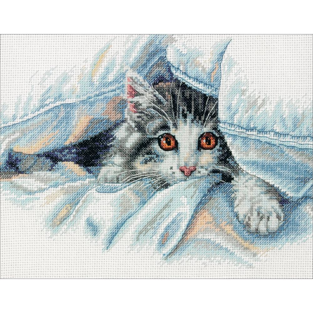 Cat Comfort Counted Cross Stitch Kit