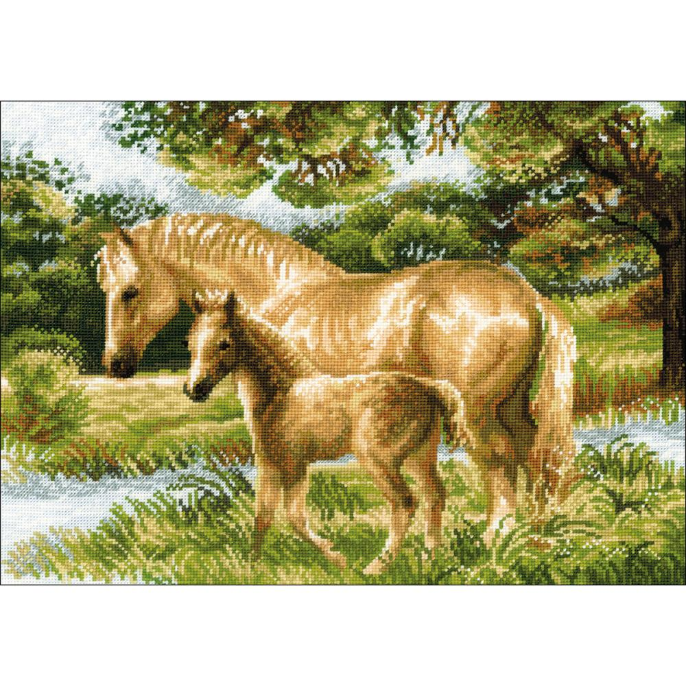 Horse With Foal (14 Count)