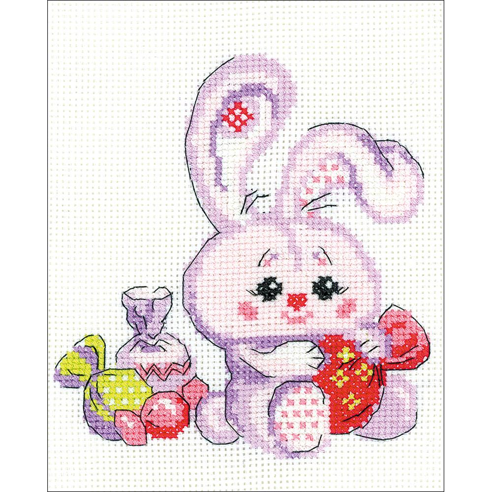 Bunny With A Candy (14 Count)