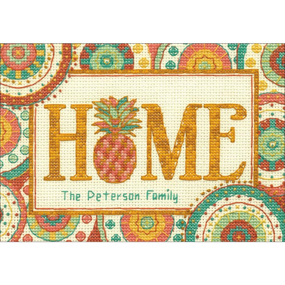 Mini Pineapple Home Counted Cross Stitch Kit