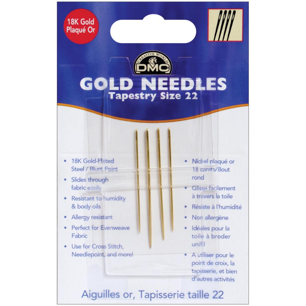 DMC Gold Tapestry Hand Needles Size 22