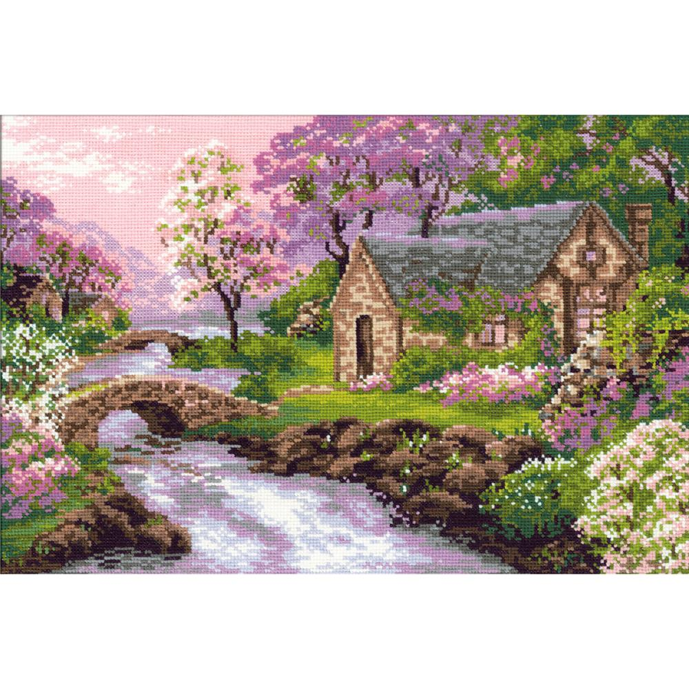 Spring View (14 Count) Counted Cross Stitch Kit