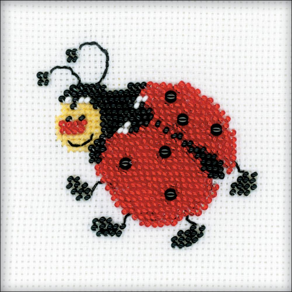 Ladybird (14 Count) Bead Embroidery Kit