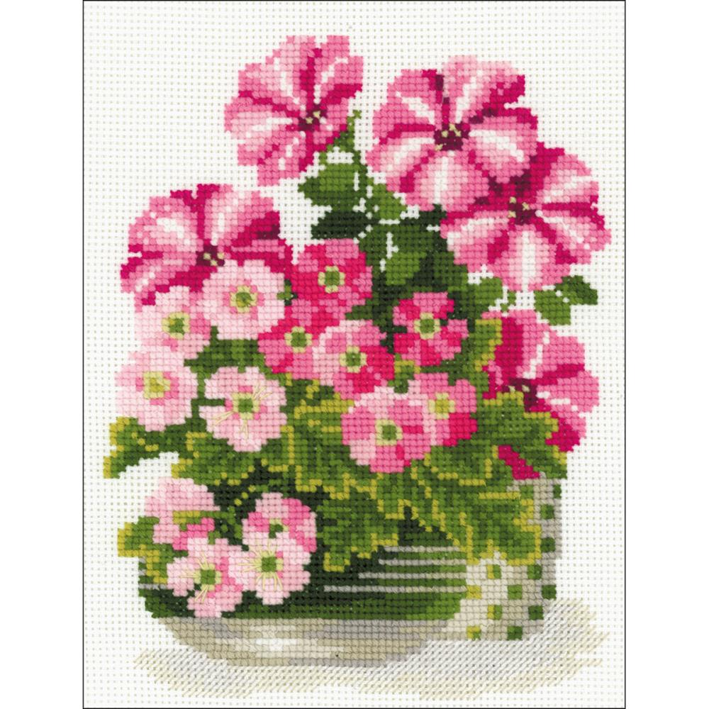Petunias & Primroses (10 Count) Counted Cross Stitch Kit
