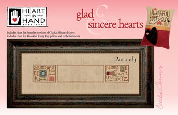 Glad & Sincere Hearts - 2 (w/embellishments)