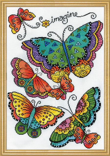Butterflies Counted Cross Stitch Kit