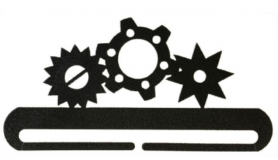 Gears Split Btm - Charcoal 8""