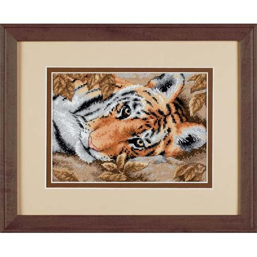 Gold Petites Beguiling Tiger Counted Cross Stitch Kit