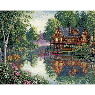 Gold Collection Cabin Fever Counted Cross Stitch Kit