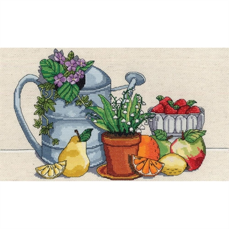 Fresh Strawberries Counted Cross Stitch Kit