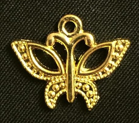 Gold Butterfly Charm 1