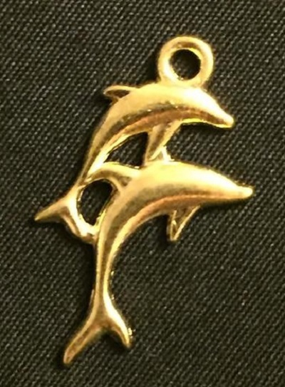 Gold Dolphins Charm