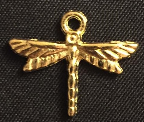 Gold Dragonfly Charm 2