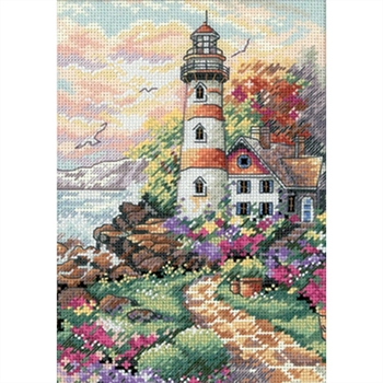 Gold Petites Beacon At Daybreak Counted Cross Stitch Kit