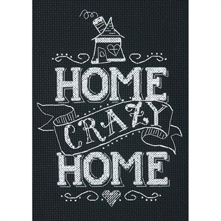 Mini Home Crazy Home Counted Cross Stitch Kit