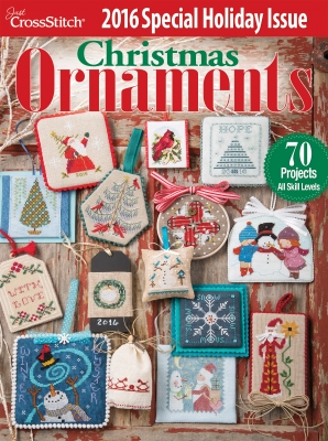 Just Cross-Stitch Christmas Ornaments 2016