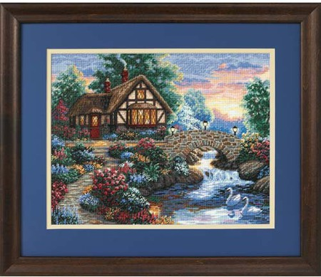 Gold Collection Twilight Bridge Counted Cross Stitch Kit
